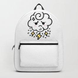 cloud rain spark cute sticker stickers iphone ipad galaxy case cover skin love 2018 yellow white sad Backpack
