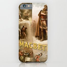 Vintage Macbeth Theatre Poster iPhone Case
