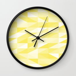 Messy yellow triangles texture Wall Clock