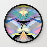 origami Wall Clocks featuring Origami by Marta Olga Klara