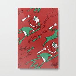 Santa Express Metal Print