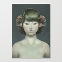 sheep Canvas Prints featuring Sheep by Lek Chan