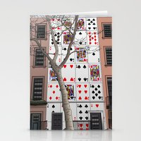 house of cards Stationery Cards featuring House of Cards by AdamSteve