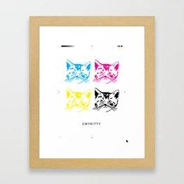 CMYKITTY Framed Art Print
