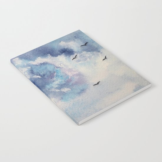 Dramatic sky || watercolor Notebook