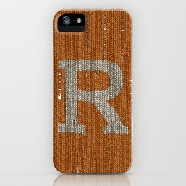 Winter clothes. Letter R. iPhone Case
