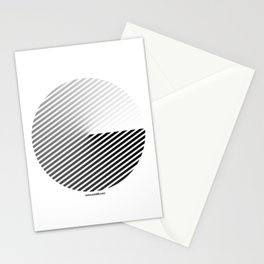 Stripes Can be in a Disc Stationery Cards