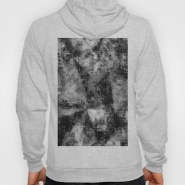 psychedelic geometric triangle pattern abstract background in black and white Hoody