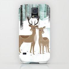 Winter Deer by Andrea Lauren  Galaxy S5 Slim Case