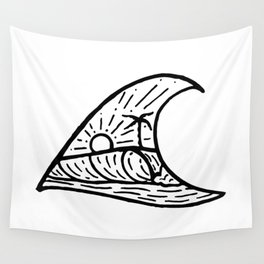 Wave in a Wave Wall Tapestry