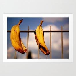 Banana Peels Art Print