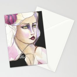 Green Eyed by Jane Davenport Stationery Cards