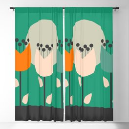 Flowers on a hill Blackout Curtain