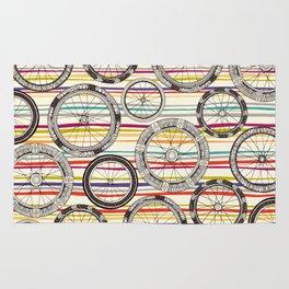 bike wheels stripe Rug