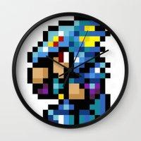 final fantasy Wall Clocks featuring Final Fantasy II - Kain by Nerd Stuff