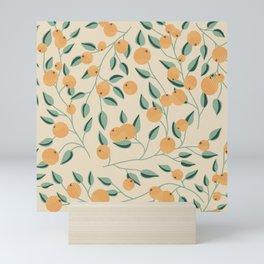 Orange Branches Mini Art Print