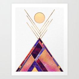 Tipi Mountain Art Print