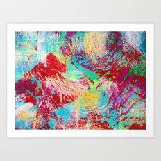REEF STORM - Fun Bright BOLD Playful Rainbow Colors Underwater Ocean Reef Theme Coral Aquatic Life Art Print