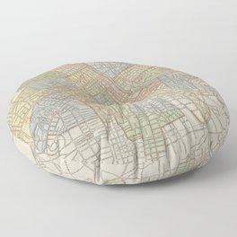Vintage Map of Nashville Tennessee (1920) Floor Pillow