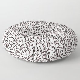 Watercolor Music Notes Floor Pillow
