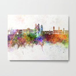 Sucre skyline in watercolor background Metal Print