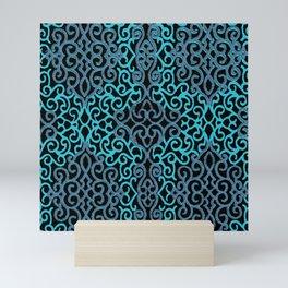 celtic blue Mini Art Print