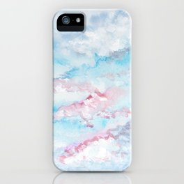Pink and Blue Clouds . Sky iPhone Case