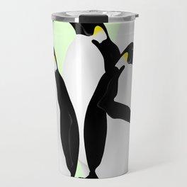 Penguin On A Mobile Device Travel Mug