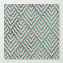 ROMBI PINK & GREEN Canvas Print