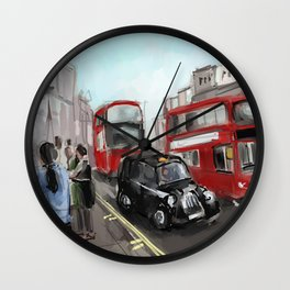 London Streets Wall Clock