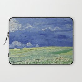 Wheatfield under Thunderclouds Laptop Sleeve