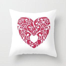 A pink Heart Throw Pillow