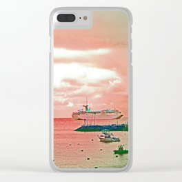 """""""Inspiration At Catalina"""" with poem: My Own Day Clear iPhone Case"""