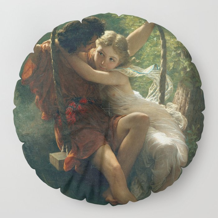 Springtime by Pierre-Auguste Cot 1873, French Floor Pillow
