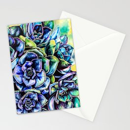 Watercolor Succulents art painting Stationery Cards