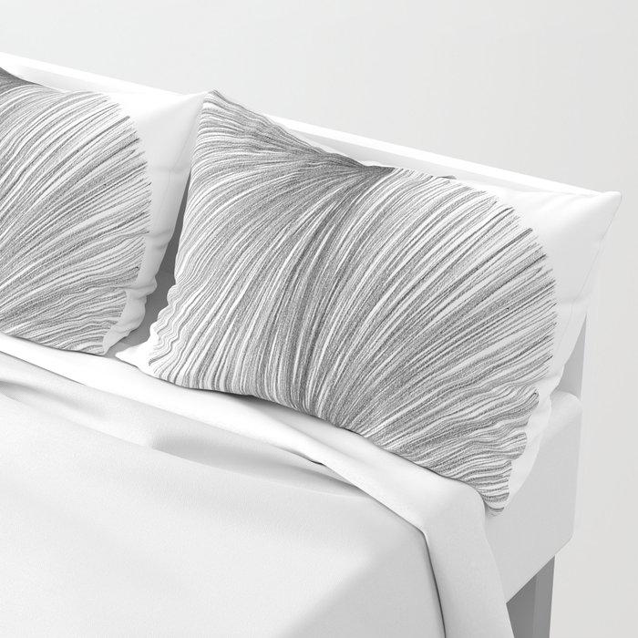 Mid Century Modern Geometric Abstract S Shape Line Drawing Pattern Pillow Sham