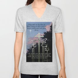 The Coming of the Son of Man Unisex V-Neck