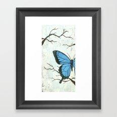 Brambles And Blue Framed Art Print