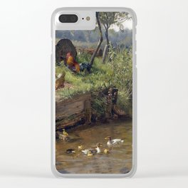 Carl Jutz Duck Family at the Weir Clear iPhone Case