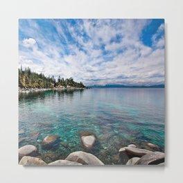 Tranquility Lake Tahoe Metal Print