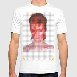 David Bowie : Aladdin Sane Pixel T-shirt