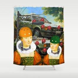 THE CAR PILE Shower Curtain