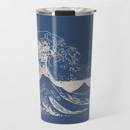 Hokusai - Big Wave of Kinagawa Travel Mug