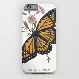 The Dark Veinlet from The Butterflies and Moths of America Part 3 (1862) iPhone Case
