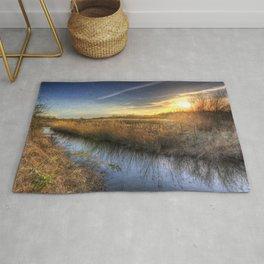The Ambling River Sunset Rug