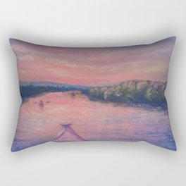 Racing the Sunset Rectangular Pillow