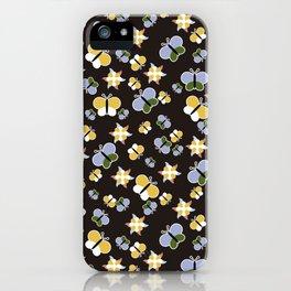 Crisscross Butterflies V.02 - Dark Charcoal Color iPhone Case