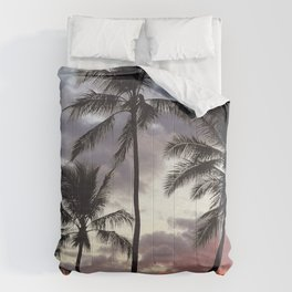 Romantic Palm Trees in Sultry Tropical Sunset Comforters
