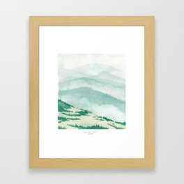 Sonoma: Coleman Valley Road Framed Art Print