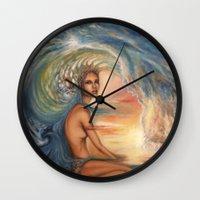siren Wall Clocks featuring Siren by Erica Wexler